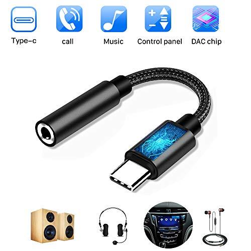 USB Tipo C Audio Adaptadores Auriculares de Jack 3.5 mm con Chipset DAC Hi-Res Widely Copara iPad Pro 2018, Huawei P20 Mate 20 Pro, Xiaomi Mix 2s, Google Pixel 3/2, HTC U11, Moto Z, Sumsang