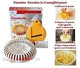 Patafacile, attrezzo per realizzare Patatine chips senza oli ne grassi in Microonde