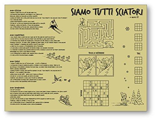 Tovagliette americane in carta paglia sabbia decorato cm. 30 x 40 ( conf. da 1000 fogli ) ottimo! per : bar, ristoranti, pizzerie, pub's, etc...