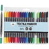 Creativ - 20 marqueurs pour tissu textile - Double pointe