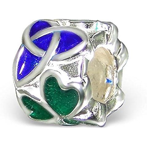 Nudo Celta Plata esterlina estilo Pandora cuentas - para tobogán en pulseras del encanto del JP nuevo