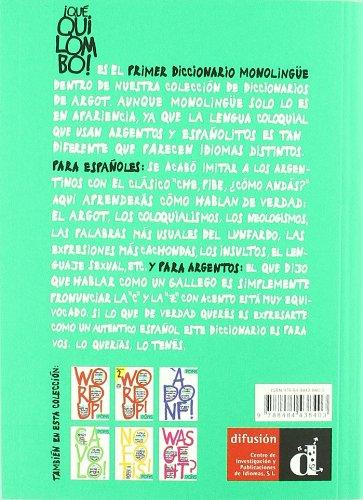 Copertina del libro ¡Qué quilombo! Diccionario de argot argentino-español (Diccionarios De Argot)