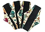 Binden waschbar I 4er Set Bambuskohle Binden für Blutung und Periode I waschbare Binden Bambus I Stoff Slipeinlagen Damen I Stoffbinde Wiederverwendbar (Beige)