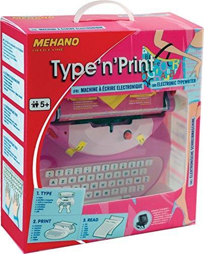 Mehano E118A Elektronische Schreibmaschine, Rosa