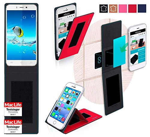 reboon Hülle für JiaYu S2 Basic Tasche Cover Case Bumper | Rot | Testsieger