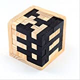 3d aus Holz Gehirn Teaser 54 T-förmige Tetris Blocks Geometrische Intellectual Jigsaw Logic Puzzle pädagogisches Spielzeug für Kinder und Erwachsene Tier Magnet Puzzle, Holz 3D Holz Klassische Rätsel Jigsaw Sperre Intelligenz Puzzle pädagogisches Spielzeug Geschenk für Kinder und Erwachsene, Set 6-teilig (gelb2)