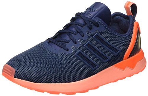 Adidas Zx Flux Adv, Scarpe Low-Top Uomo Blu (Mini Blue/Mini Blue/Solar OrangeMini Blue/Mini Blue/Solar Orange)