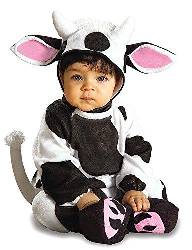 Kuh Baby Kostüm Strampler schwarz weiss rosa