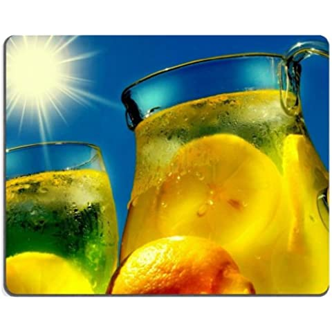 Cold Lemonade Juice Blaring Sun Mouse Pads Customized Made to Order Support Ready 9 7/8 Inch (250mm) X 7 7/8 Inch (200mm) X 1/16 Inch (2mm) High Quality Eco Friendly Cloth with Neoprene Rubber MSD Mouse Pad Desktop Mousepad Laptop Mousepads Comfortable Computer Mouse Mat Cute Gaming Mouse pad - Pad Lemonade