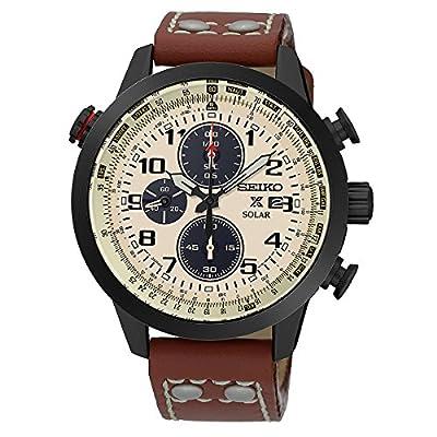 Seiko SSC425P1 - Reloj para hombre, color blanco / gris