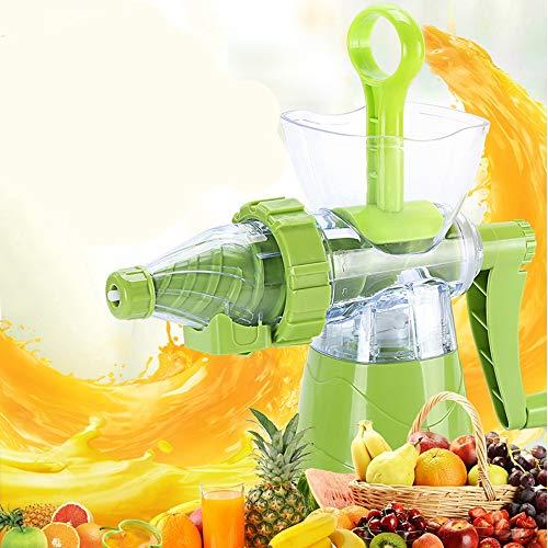 Handschüttel Safthaiker-halbautomatische Juicer Safety zuverlässigen Haushaltsfrucht Kleine Juicer Multifunktionsmaschine Hausgebraten-Portable Gurt (grün) 260 × 130 × 200mm