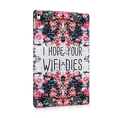 I Hope Your WiFi Dies Rosa Wild Blume Roses Blossom Dünne Rückschale aus Hartplastik für iPad Pro 9.7 Tablet Hülle Schutzhülle Slim Fit Case cover (Rosa Paisley-snap)