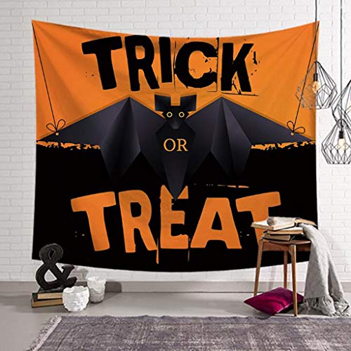 eppich, Halloween-Thema Nacht Kürbis und Haunted House Ghost dekorative Decke, Digitaldruck Tapisserie, Wanddecke, Badetuch (Color : B, Size : 80 x 60 inches) ()