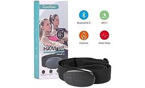 CooSpo Herzfrequenzmesser Brustgurt Bluetooth/ANT+ Brustgurt IP67 Wasserdicht Heart Rate Sensor Kompatibel mit Wahoo, Zwift, Polar Beat, Elite HRV, Runtastic Pro, Endomondo