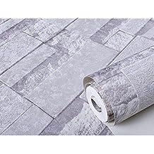 GXX 3D imitación Ladrillo azulejo patrón papel tapiz/Dormitorios sala de estar TV fondo pared de pantalla/ ropa tienda ladrillos cultura piedra papel pintado-A