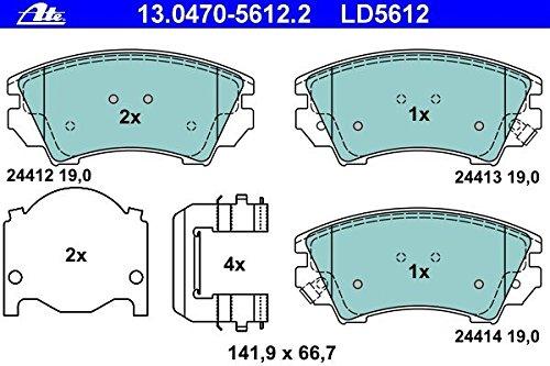 ATE 13047056122 Set pastiglie freno a disco ATE Ceramic
