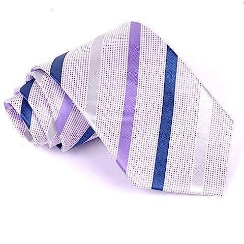 Z-P Mens New Fashion Luxury Purple Dots Necktie Polyester Silk Business Wedding Ties