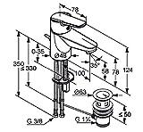 Kludi D vise-Miscelatore monocomando per lavabo, leva chiusa, installazione monoforo, 1pz, cromati, klu371810590