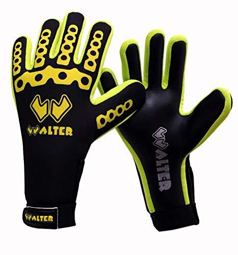 guanti da portiere walter WALTER Guanti da Portiere Modello MECANO (Black/Yellow