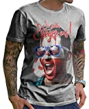 Stylotex Herren T-Shirt Basic So sehn Sieger aus Shout for Polen Polska, Größe:XXXL, Farbe:heather