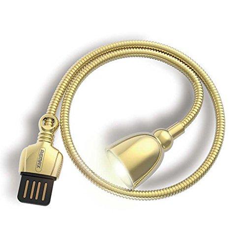 Sehrhelle Mini LED USB Schreibtisch Lampe Flexible Schwanenhals für Powerbank PC Notebook Computer Tastatur tragbar Laptop Geschenk Night Buch Leselampe Nachtlampe Augepflege Arbeitslampe (Gold) - Kompakte Flexible Tastatur
