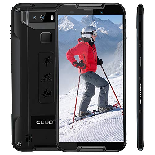 CUBOT Quest Sport Smartphone 5.5 Pollici Corning Gorilla 5th Android 9 Impermeabile 4GB + 64GB Batteria 4000mAh Face ID, NFC,Type-C 5V /2A 4G LTE Rugged Cellulare (Nero)