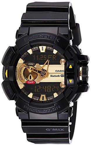 Casio G-Shock GMix Men's Gold Ana-Digi Dial Resin Band Watch - GBA-400-1A9