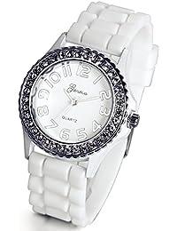 Lancardo Reloj Analógico Elegante de Cuarzo Original Jalea Correa de Silicona Pulsera Electrónica de Moda con