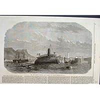 Stampa Antica di Taurean Tolone 1866 Placcati Francesi della Ram