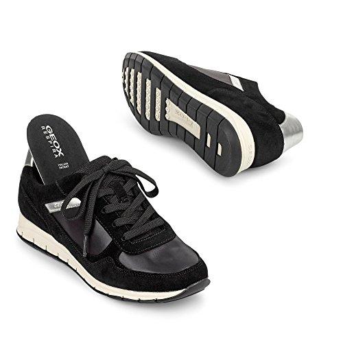 Geox D Contact B, Chaussures Femme Noir