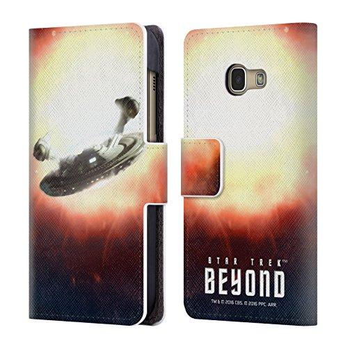 Head Case Designs Offizielle Star Trek USS Franklin Poster Beyond XIII Brieftasche Handyhülle aus Leder für Samsung Galaxy A3 (2017) (Franklin Design)