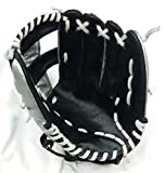 #9: Ram Sharnam Sports Baseball Gloves (Black and Silver)