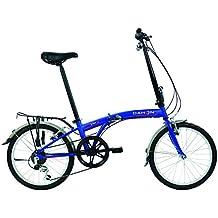 Dahon SUV D6 bicicleta plegable mixta, color Blue Suede, ...