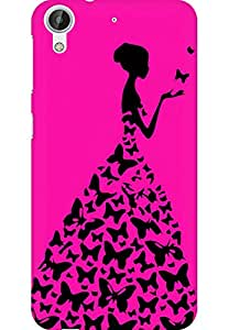 AMEZ designer printed 3d premium high quality back case cover for HTC Desire 626 LTE (neon pink girl princess)