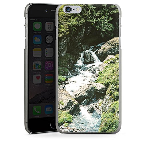 Apple iPhone X Silikon Hülle Case Schutzhülle Wasserfall Felsen Gebirge Hard Case anthrazit-klar