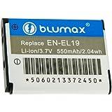 Blumax Batterie Li-Ion de remplacement pour Nikon EL-EL19 / Coolpix-4100 / -3100 / -2500 (Import Allemagne)