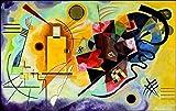 """Kandinsky """"amarillo rojo y azul, diseño de papel estucado gr.300 (cartón) 90 x 60 cm, modelo 31113"""