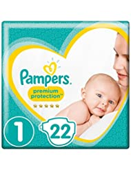 Pampers New Baby Size 1, 22 Nappies, 2-5 kg