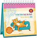 Om-Katze: In der Ruhe liegt die Kraft - Wochen-Kalender 2020: zum Aufstellen m. Illustrationen u. Zitaten, inspirierende Texte auf d. Rückseiten, Spiralbindung, 16,6 x 15,8 cm -