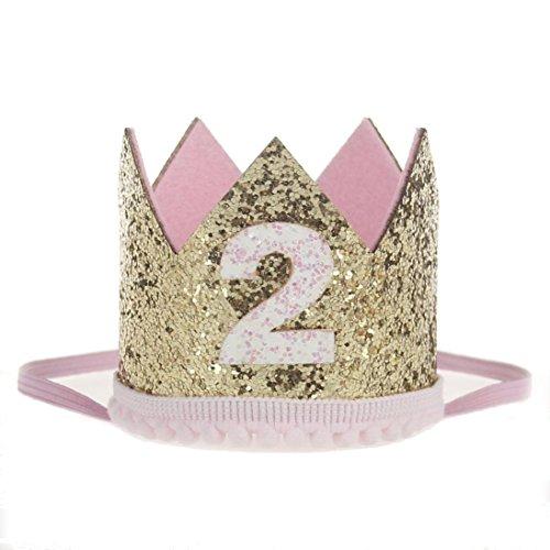 kingko® Neue und schöne Design Mädchen Sequins Kopf Zubehör Headband Baby Elastische Blume Crown Headwear A