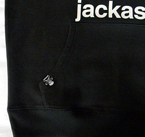 Jackass, Herren-Hoodie, Skull Schwarz