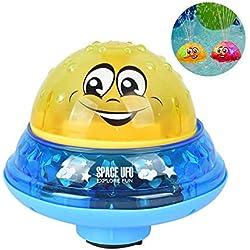 Volwco Sprinkler Ball, Jouet De Boule D'éclaboussure d'eau avec La Lumière pour des Enfants d'enfants De Bébé Bathtime, Jouet Idéal De Bain De Piscine D'été