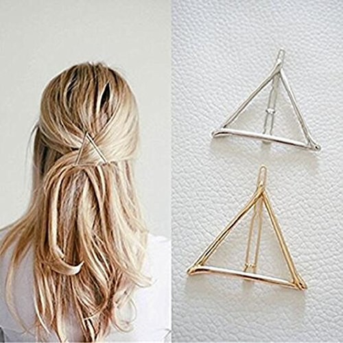 Cheap4uk Hollow Triangle Geometric Metal Hairpin Hair Clip Clamps Accessories Styling Jewelry for women or Girls(2 pcs)