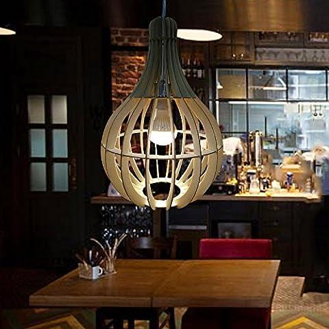 DZXYA Antique wooden wooden barrels chandeliers Loft living room study bedroom Warehouse Bar-cafe Deco