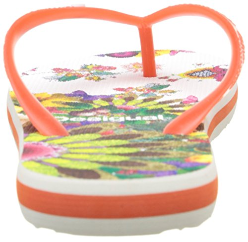 Desigual Shoes_flip Flop 10 Damen Zehentrenner Orange (3074 ROJISIMO)