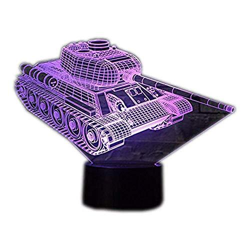 Wangzj 3d Kreative Nachtlicht Lampe / 7 Farbwechsel Led Touch/Geschenk Kinder Spielzeug/Dekorationen Weihnachten/Valentinstag Geschenk/GeburtstagsgeschenkTank (Cola-tank)