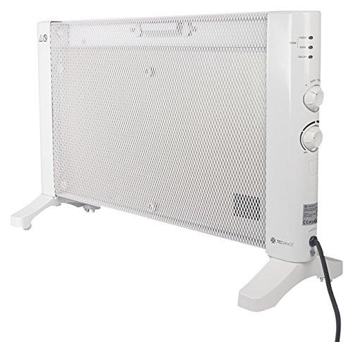 Tecvance TV-8385 Mobiles Wärmewellen Heizgerät mit Thermostat und 3 Heizstufen