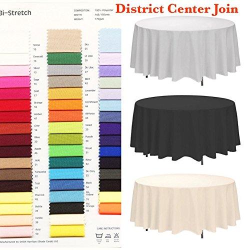 royaltablecloths tableclothscovering alle Anlässe Tischdecke, Polyester, rund, Cerise (Hot Pink), Round 108