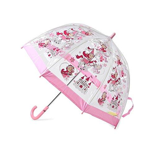 Bugzz Kids Clear Princess Print Umbrella Transparent and Pink (Fasern Spaß)