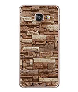 PrintVisa Designer Back Case Cover for Samsung Galaxy A3 (6) 2016 :: Samsung Galaxy A3 2016 Duos :: Samsung Galaxy A3 2016 A310F A310M A310Y :: Samsung Galaxy A3 A310 2016 Edition (Stones In Linear Fashion)